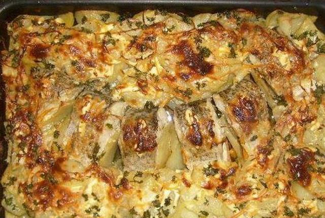 Щука запеченная с картофелем 2