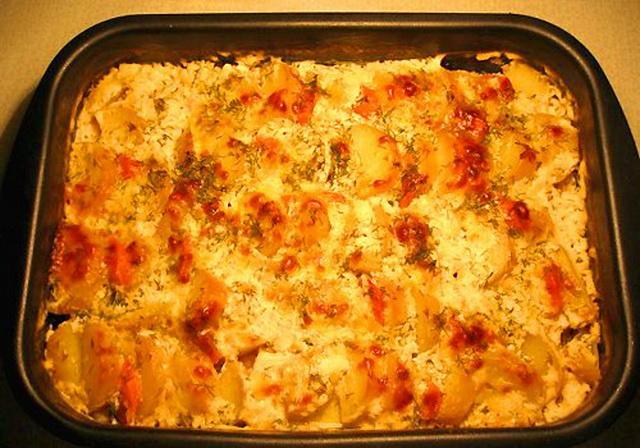щука в духовке рецепты с фото кусочками с картошкой в духовке