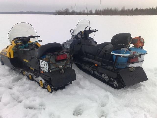 Снегоход для зимней рыбалки на щуку 1