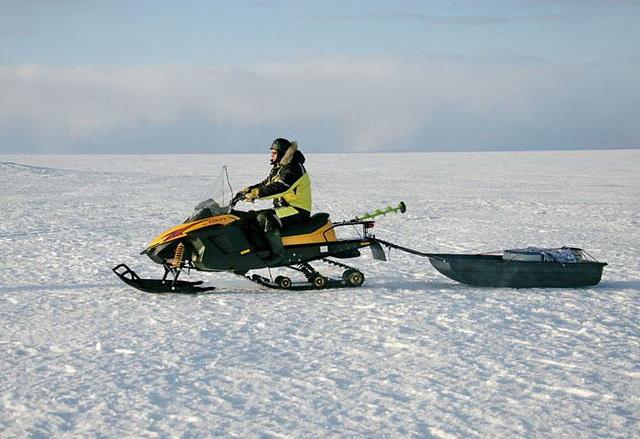 Снегоход для зимней рыбалки на щуку А
